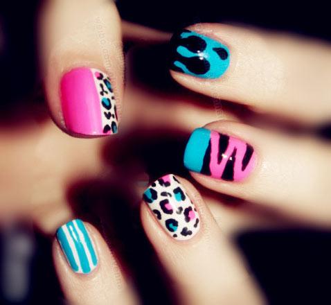 Цветные ногти с рисунками