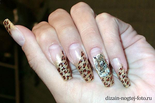 Фото дизайн нарощенных ногтей