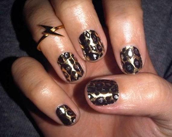 Леопардовый маникюр ногти