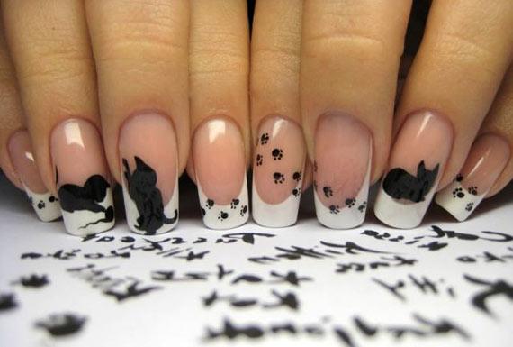 Дизайн ногтей с фото френч