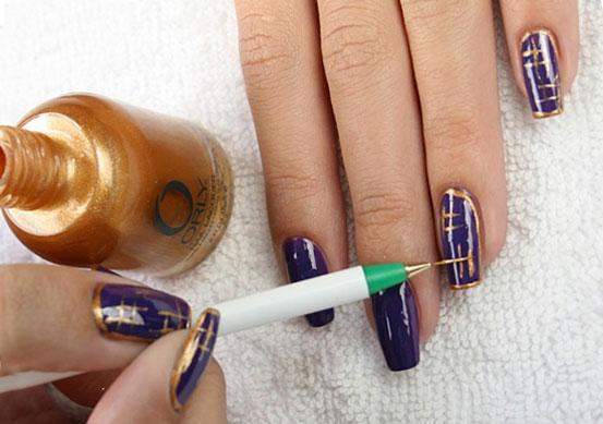 Простые рисунки на ногтях с помощью лака
