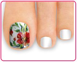дизайн ногтей ног