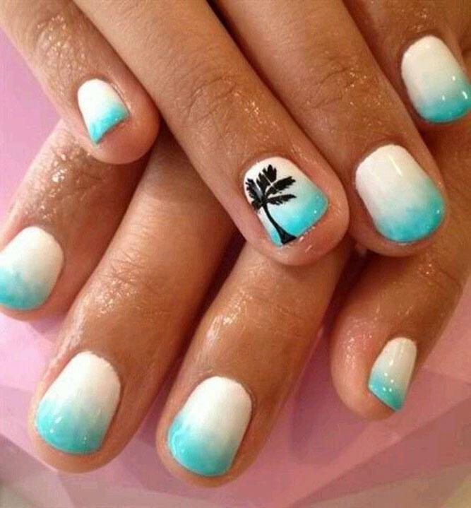 идеи дизайна коротких ногтей