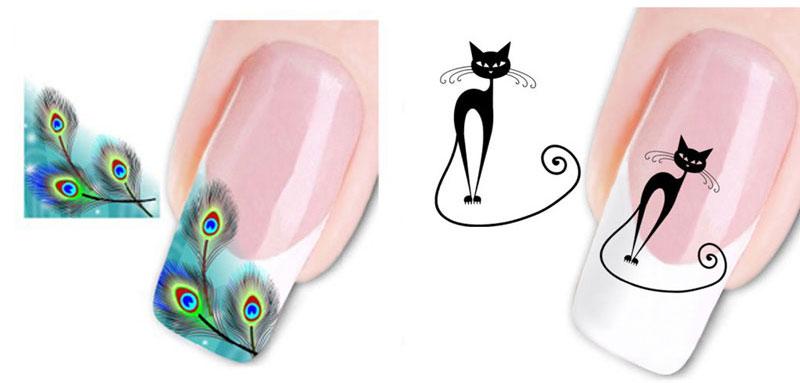 Как клеить наклейки на ногти
