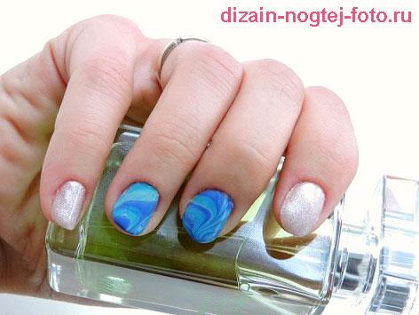 морской дизайн ногтей фото