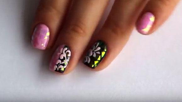дизайн ногтей битое стекло