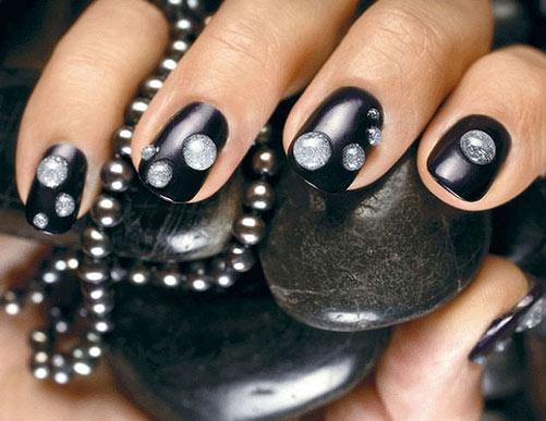 Черный Лак для ногтей