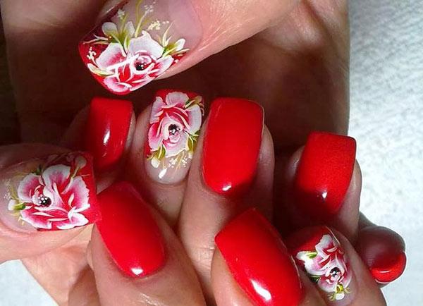 Рисунки на ногтях - цветочные мотивы