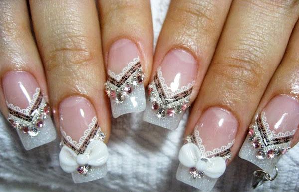 Свадебный маникюр: 50 фото, свадебный дизайн ногтей