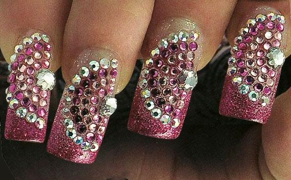 Дизайн ногтей со стразами фото