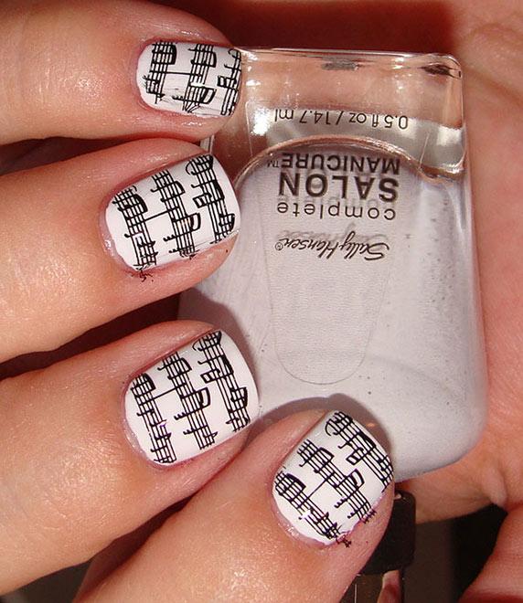 Маникюр на коротких ногтях белый