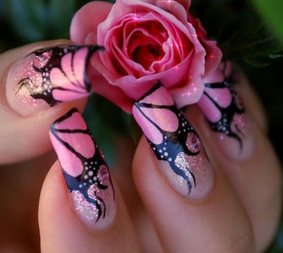 Наращивание ногтей акрилом фото