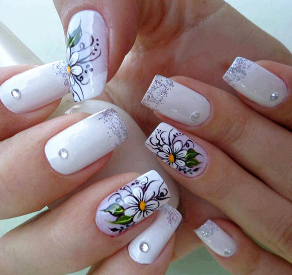Ногти нарощенные фото - дизайн нарощенные ногти