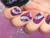 Легкие рисунки на ногтях иголкой