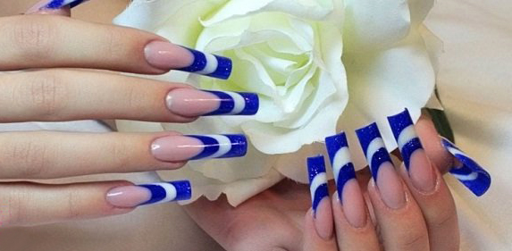 Необычный френч на ногтях