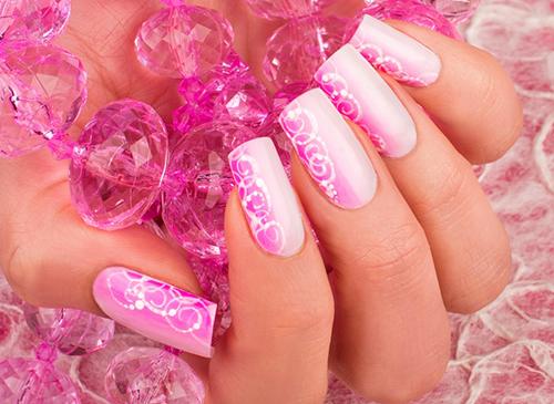Красивые ногти розовые