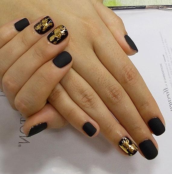 Маникюр с фольгой фото на короткие ногти
