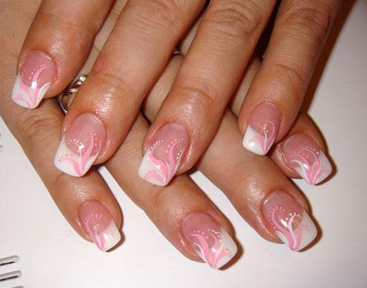Простые рисунки на ногтях - узоры