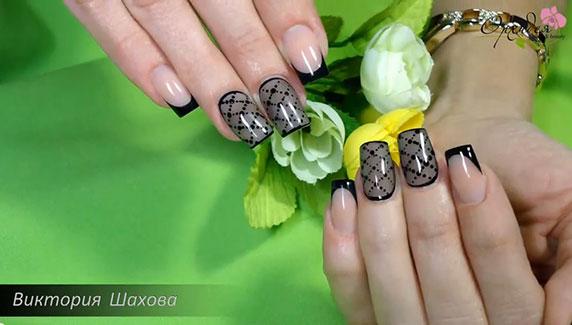 дизайн ногтей колготки фото
