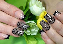Дизайн ногтей «Колготки» или «Вуаль»