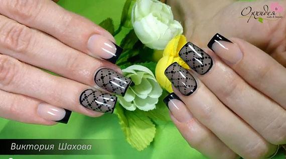 """Дизайн ногтей """"Вуаль"""""""