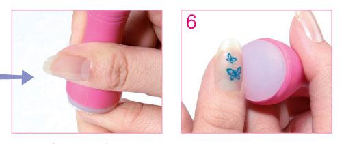 рисунок со стемпингом для ногтей
