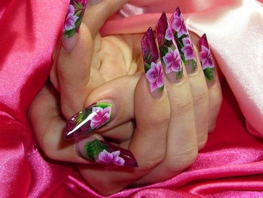 Подбор материалов для росписи ногтей в китайском стиле