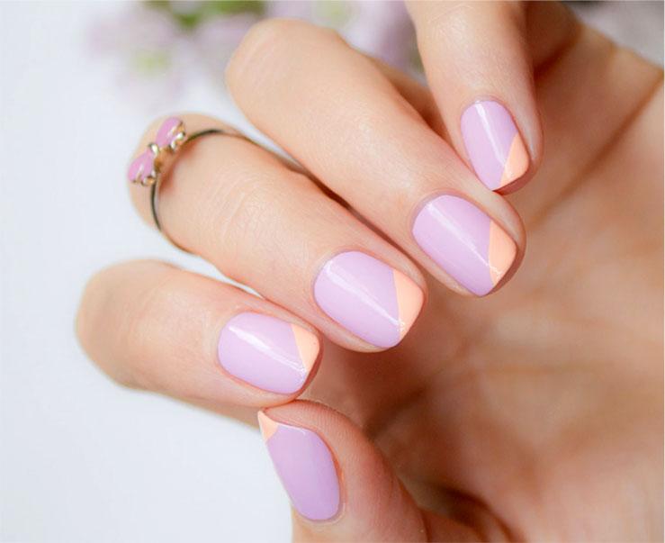 Дизайн коротких ногтей в светлых тонах