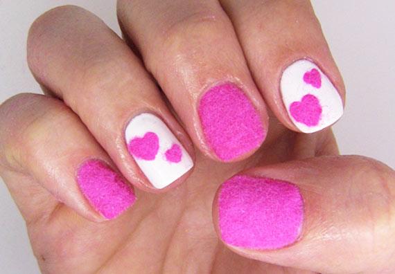 бархатный розовый маникюр