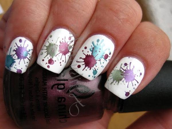 Дизайн ногтей кляксы как делать