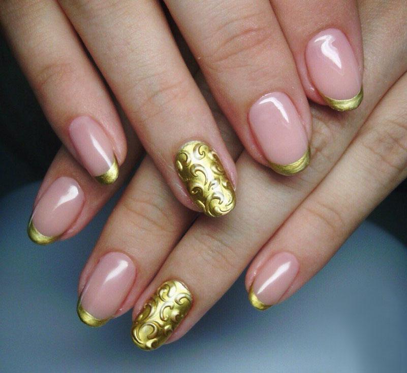 Цветной френч золотой
