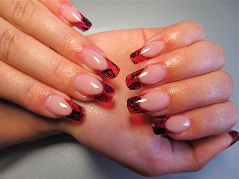 Красный цветной френч