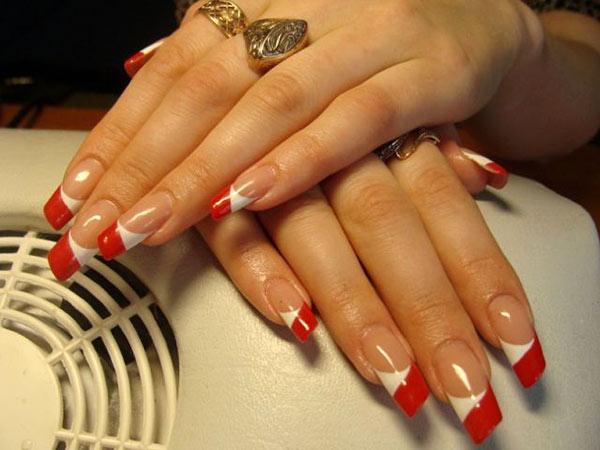 Паркер - скошенные ногти