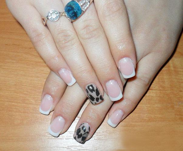 леопардовый принт френч