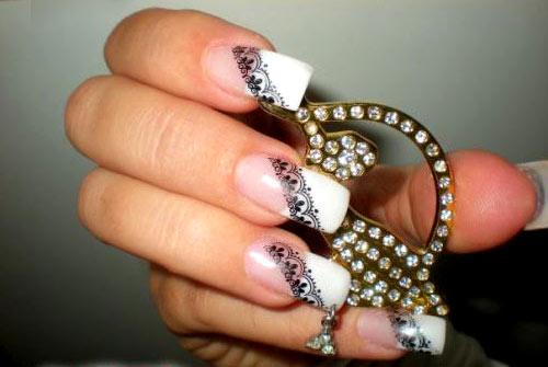 популярные виды вензеля на ногтях
