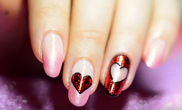 Как сделать маникюр на день Святого Валентина